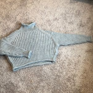 Grey mock neck- large